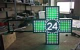 """Аптечний хрест 600х600 світлодіодний двосторонній. Серія """"Twenty-Four"""", фото 2"""