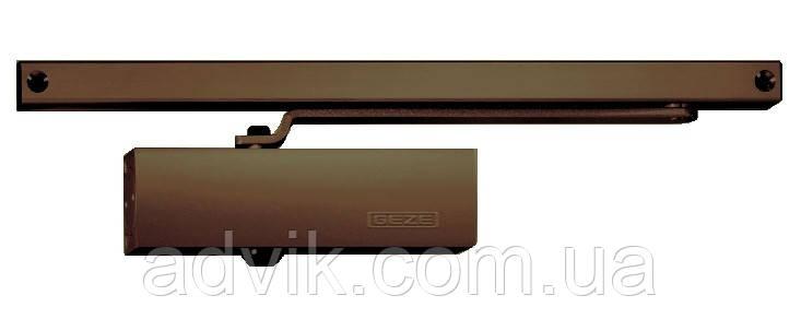 Доводчик Geze TS 1500 G со скользящей тягой (коричневый)