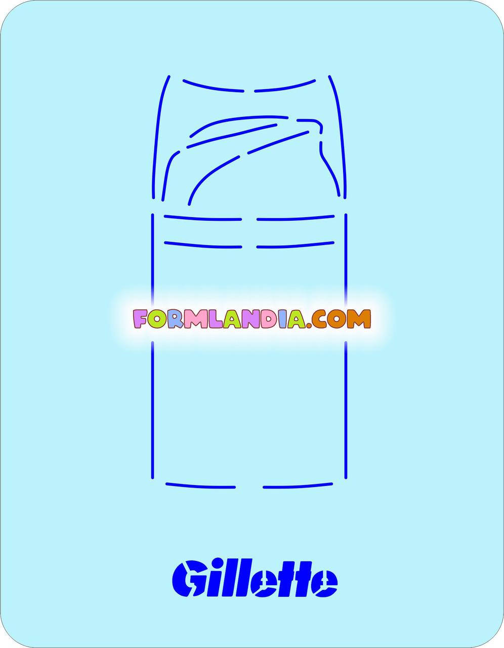 Трафарет + форма Мужской набор №1 - Пенка
