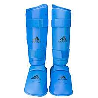 Защита голени и стопы Adidas с лицензией WKF синяя, фото 1