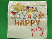 Салфетка (ЗЗхЗЗ, 20шт) Luxy  Гавайская вечеринка(1240) (1 пач)