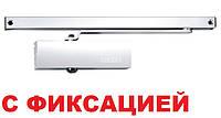 Доводчик Geze TS 1500 G со скользящей тягой с фиксацией (белый)