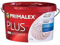 Краска интерьерная Primalex Plus 15кг Экстра-белая