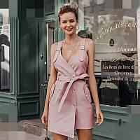 Сарафан - платье, искусственная кожа