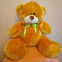 """Нежный плюшевый мишка """"Миша"""" 100см, медовый с бантиком. Красивый мягкий медведь. Прекрасный подарок 1 метр."""