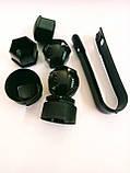 Защитные колпачки для колесных гаек с секретными болтами 17 мм пластик серые, фото 4
