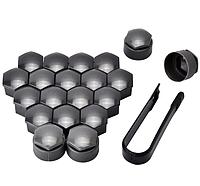 Защитные колпачки для колесных гаек с секретными болтами 17 мм пластик серые