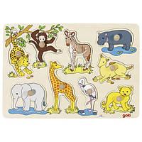 Детские пазлы для малышей Африканские животные goki 57829
