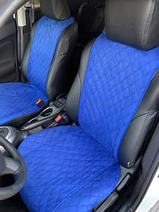Накидки на сидіння Алькантара комплект на передні сидіння синій