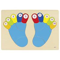 Пазлы для малышей Ножки goki 57876G