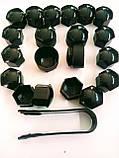 Защитные колпачки для колесных гаек с секретными болтами 17 мм пластик серые, фото 7