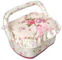 Шкатулка для рукоделия Bona Весна в Париже Pale Pink 23x19x14 см (psg_BD-400-10)