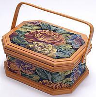 Шкатулка для рукоделия Bona Констанция Tapestry with Roses 27.3x20.8x13 см (psg_BD-488-010)