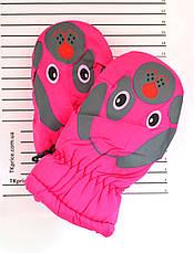 Детские болоневые варежки - длина 15-16 см, фото 3