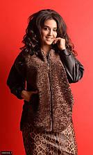 Куртка меховая  856568-1 коричневый  с 48 по 56 размер(мш)