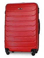 Чемодан Fly 1107 большой 74х50х29 см 90л пластиковый на 4 колесах Красный