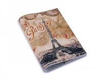 Оригинальная кожаная обложка на паспорт ReD Винтажная башня, кожа