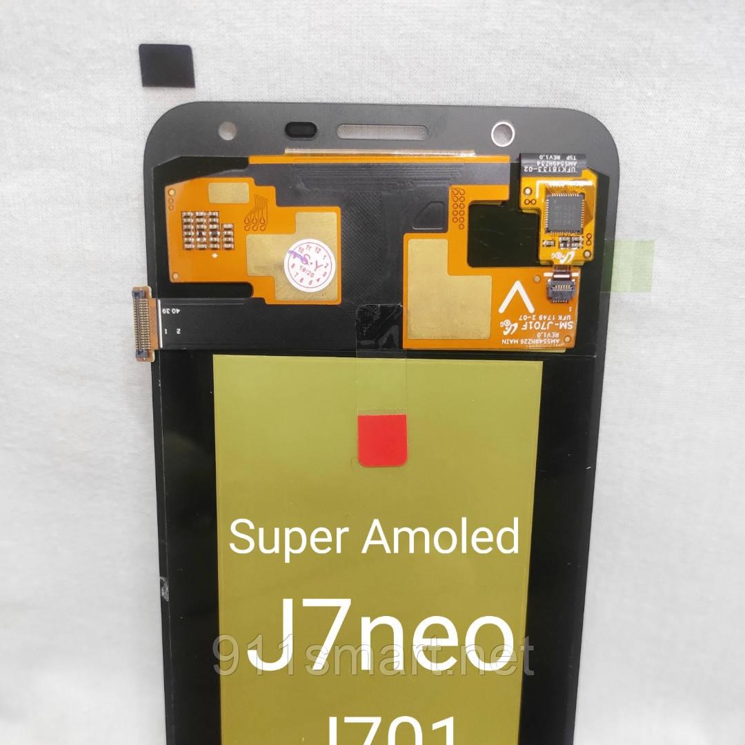 Модуль Super Amoled дисплеєм, екран Samsung Galaxy J7 neo J701 gold