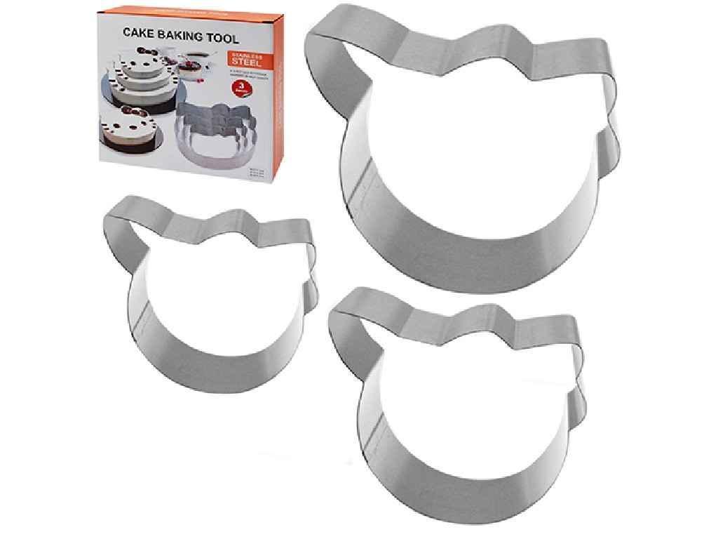 """Кольца для торта Kitty 3 штуки 21х21х5 см N01945 MPH025256 """"STENSON"""""""