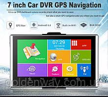 Автомобильный GPS навигатор с видеорегистратор Pioneer D744 Android + видеовход AV + TIR Igo ЕВРОПА