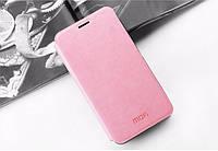 Кожаный чехол книжка MOFI для Meizu MX5 розовый