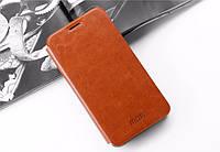 Кожаный чехол книжка MOFI для Meizu MX5 коричневый