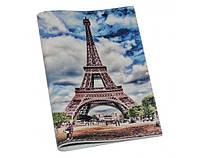 Шкіряна обкладинка/обгортка на паспорт/загранпаспорт ReD Эйфелева башня, кожа