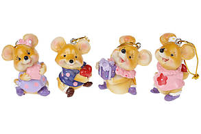 Подвесной декор Мышки, 4 вида, 6см BonaDi 519-182