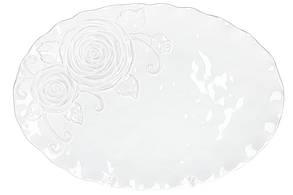 Блюдо керамическое сервировочное овальное Аэлита, цвет - белый, 41см BonaDi 545-475