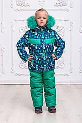 "Детский зимний комбинезон для девочки ""Снеговик"""