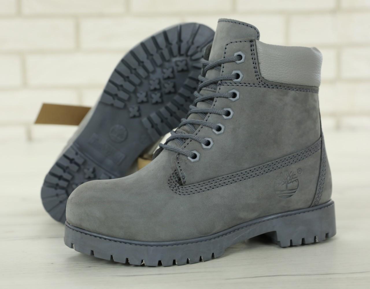"Ботинки Timberland Classіc Boots  ""Gray""  ( в стиле Тимберленд )"