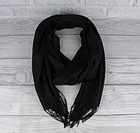 Демисезонный тонкий кашемировый шарф, палантин Ozsoy 7180-1 черный, Турция, фото 1