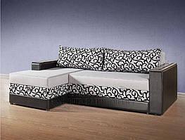 """Угловой диван """"София"""" с деревянными подлокотниками. Производитель Киевский стандарт."""