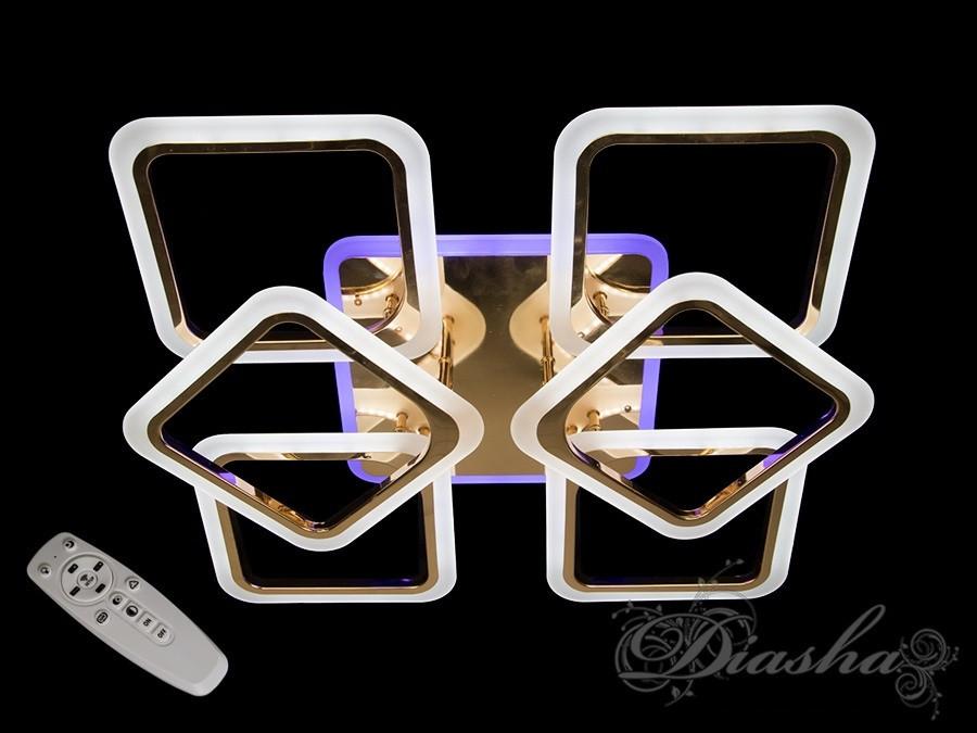 Потолочная люстра с диммером A8060/4+2G LED 3color dimmer