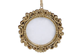Елочное украшение Фоторамка, 9см, цвет - золото BonaDi 829-322
