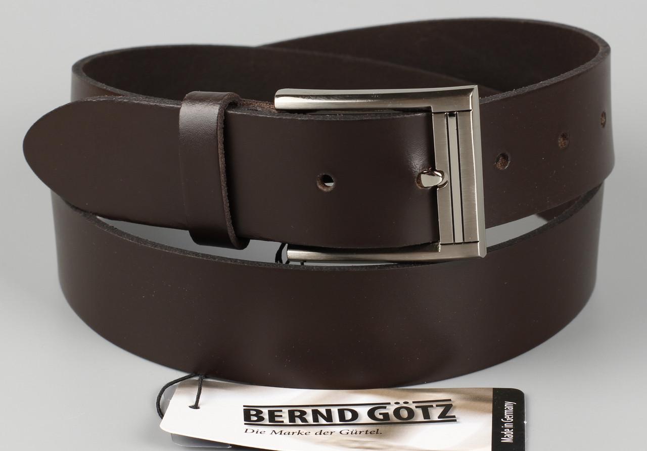 Ремень брючный кожаный коричневый Bovino 35 мм