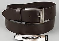 Ремень брючный кожаный коричневый Bovino 35 мм, фото 1