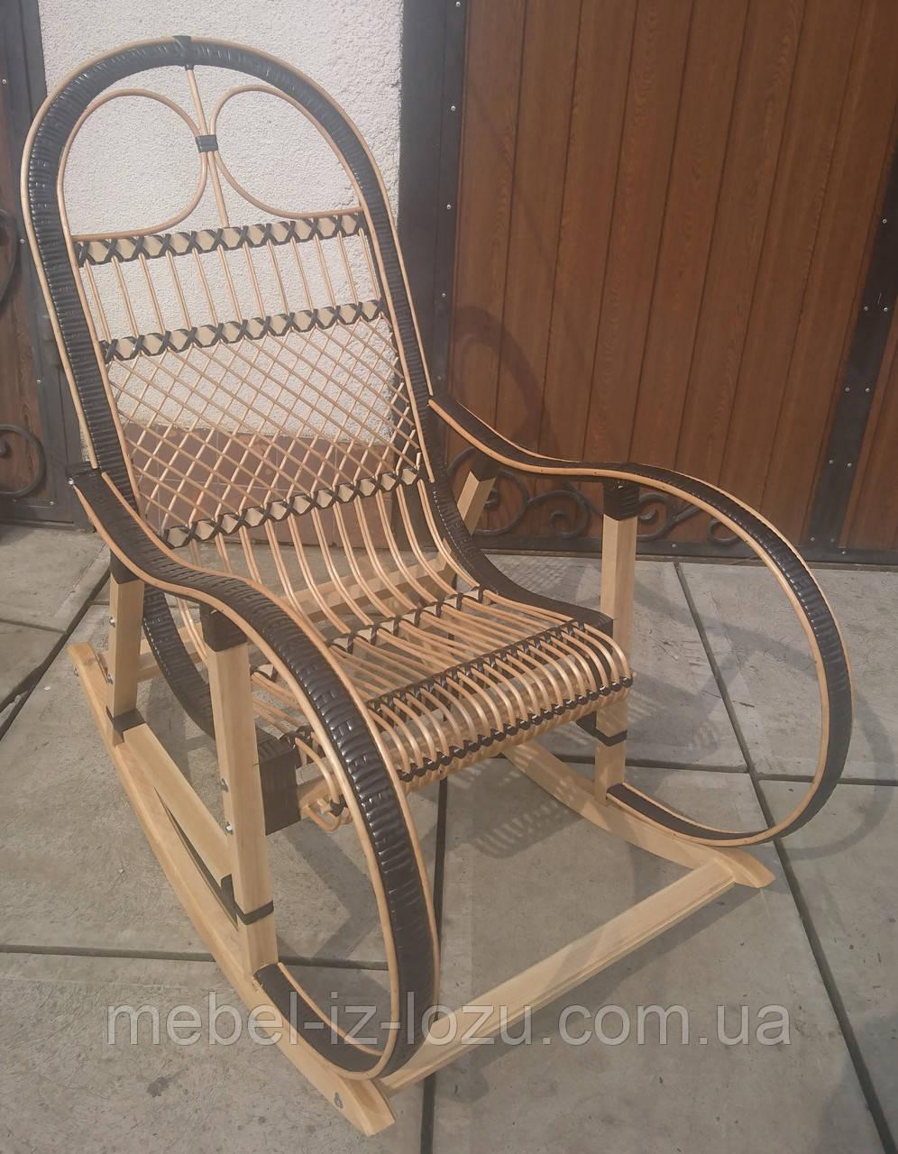 """Кресло-качалка """"Ротанг"""" черная"""