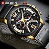 Мужские часы Curren (black-gold) - гарантия 12 месяцев, фото 3