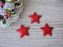 Патчи звездочки красные из эко-кожи d - 5 см. 2.5 грн  от 10 шт