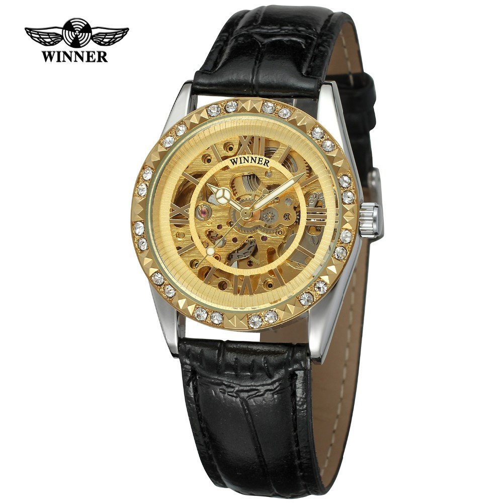 Механические часы Winner Lux - гарантия 12 месяцев