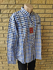 Рубашка мужская больших размеров  коттоновая брендовая высокого качества BAGARDA, Турция, фото 3