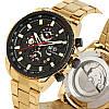 Механические часы с автоподзаводом Forsining (gold-black) - гарантия 12 месяцев, фото 9