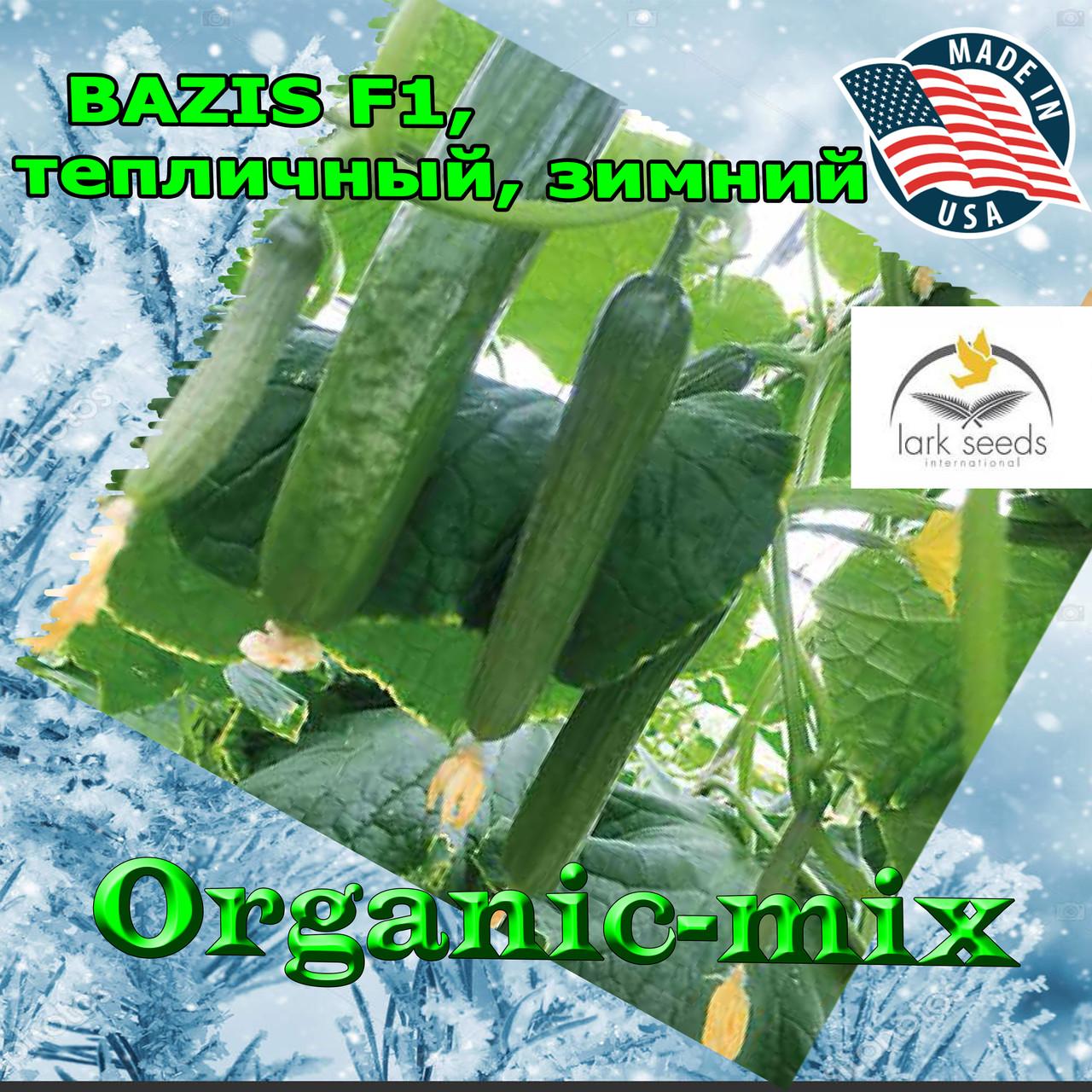 Огурец для зимних теплиц БАЗИС F1 / BAZIS F1, упаковка 100 семян, Lark Seeds (США)