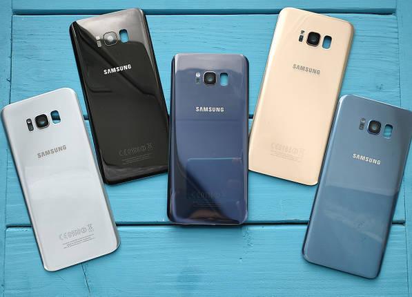 Задняя крышка для Samsung G955 Galaxy S8 Plus серебристая (со стеклом камеры), фото 2