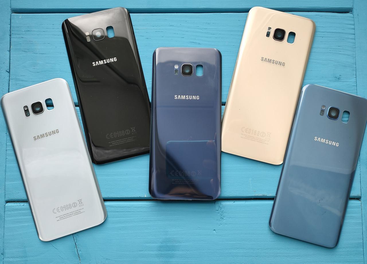 Задняя крышка для Samsung G955 Galaxy S8 Plus серебристая (со стеклом камеры)