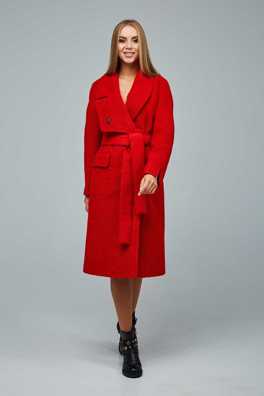 Шерстянное демисезонное женское пальто