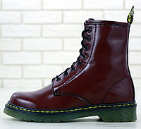 Женские Ботинки Dr. Martens 1460 Smooth VEGAN Cherry Red (Доктор Мартинс) 36