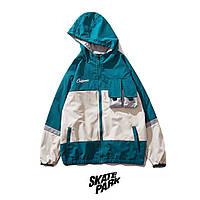 Куртка, ветровка Skatepark Beige/Blue унисекс