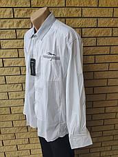 Рубашка мужская больших размеров стрейчевая коттоновая брендовая высокого качества BAGARDA, Турция, фото 2